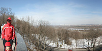 photo, panorama, park, winter